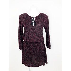 Soft Joie Red Black Elastic Waist Short Dress